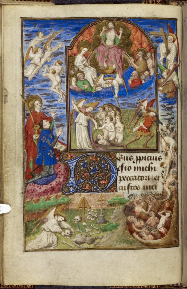 Judgement Day in British Library MS Yates Thompson 3, f. 32v