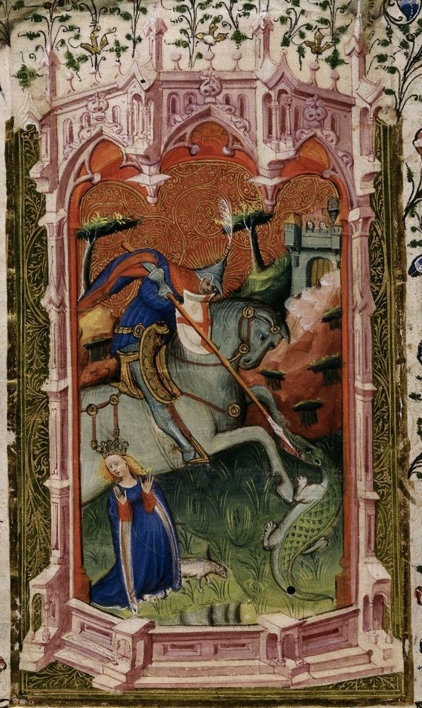 St George in British Library MS Royal 2 A XVIII