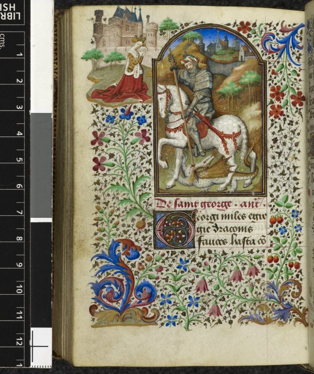 St George Killing the Dragon in British Library MS Yates Thompson 3