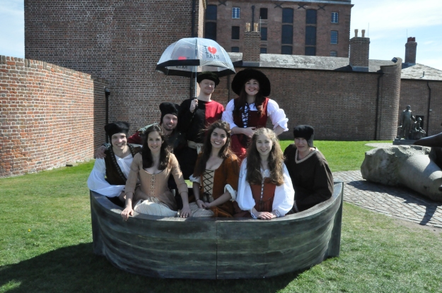 Noah and his Family n the 'Ark' (lent to us by Spike Theatre)