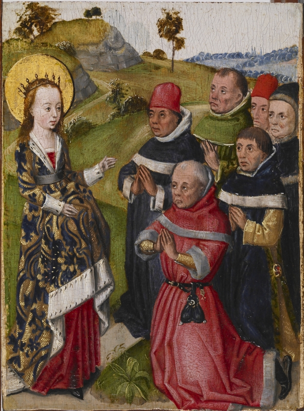 Saint Catherine converting the Scholars. Walters Art Museum 37.2487.