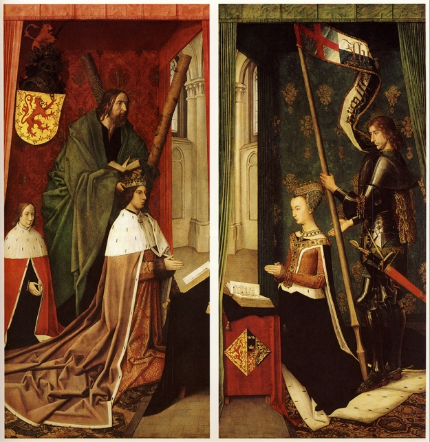 Margaret of Denmark, Queen of Scotland, Altarpiece by Hugo van der Goes