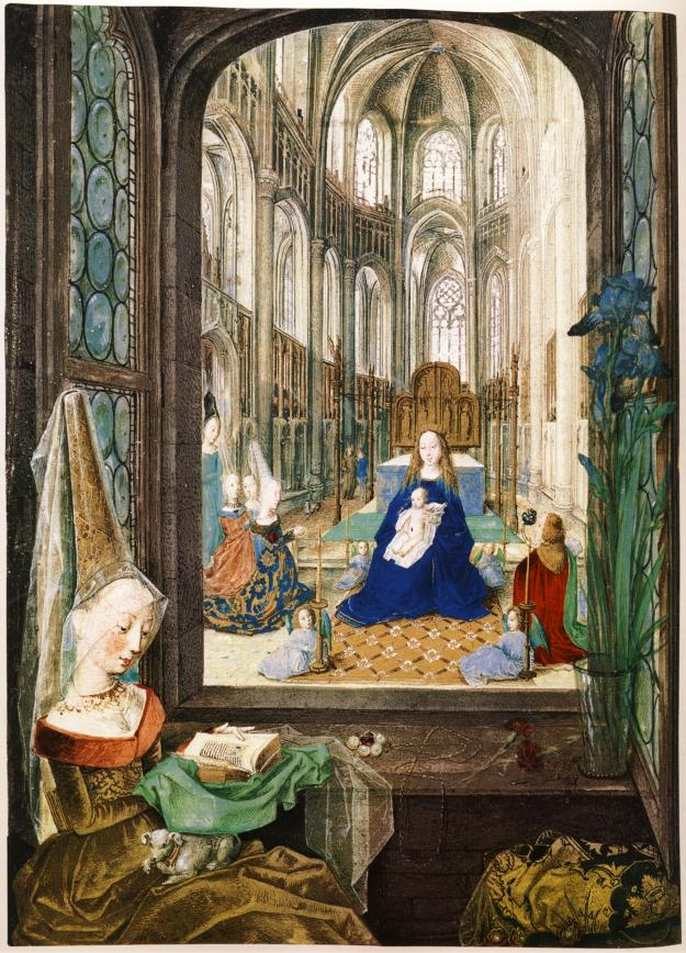 Mary of Burgundy (in foreground and background praying to the Virgin). Mary of Burgundy's Hours.