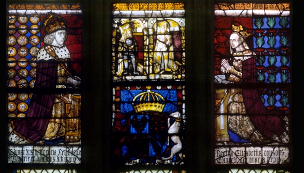 Edward IV and Elizabeth in the Royal Window, Canterbury Cathedral.