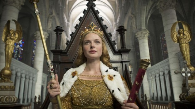 The coronation of Elizabeth, played by Rebecca Ferguson, in the BBC's The White Queen.