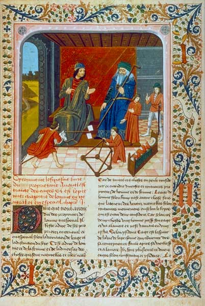 Seven Ages of Man, BnF Fr. 218, fol. 95.