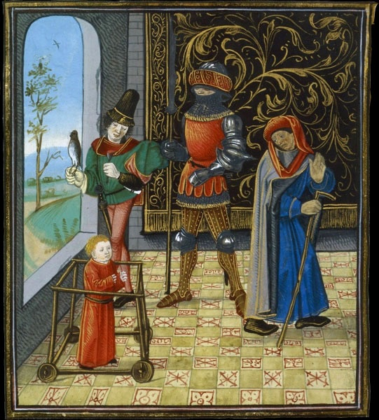 The Ages of Man, BNF, département des Manuscrits, Français 134, fol. 92v.
