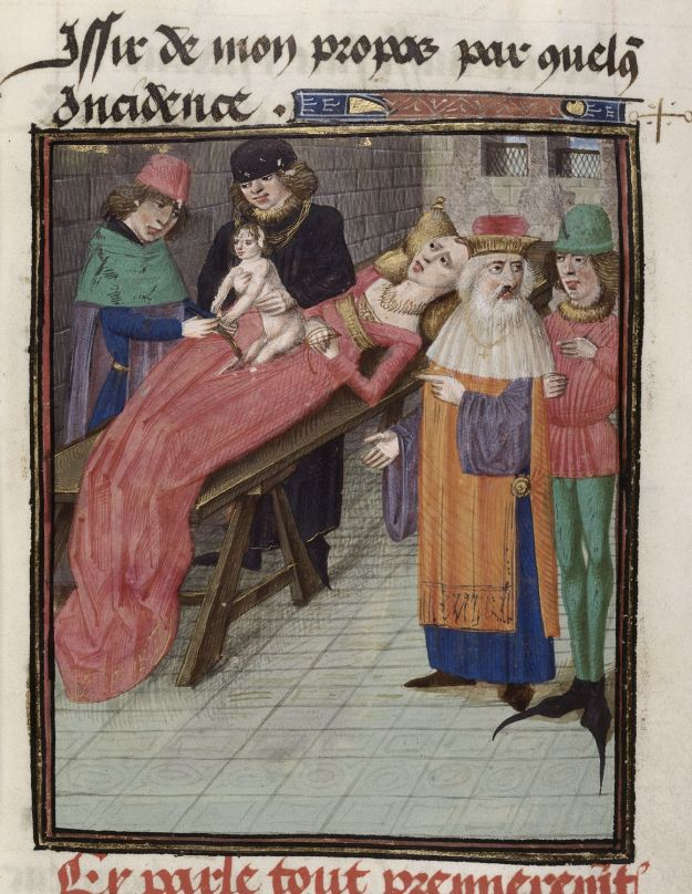 Birth of Caesar, British Library, Royal 16 G VIII, f. 32.