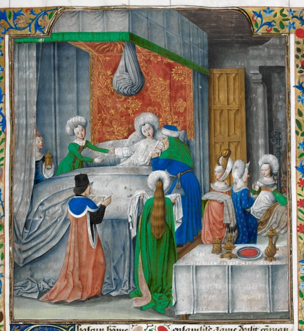 Birth of Caesar, British Library Royal 17 F II, f. 9r.
