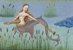 Detail of Mermaid from La Bibliothèque nationale de France.