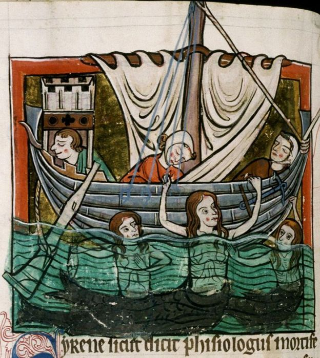 Sirens in Oxford, Bodleian Library MS Bodley 764.