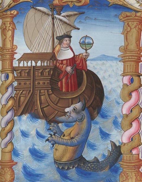 Bibliothèque nationale de France, Français 1537. Jean Parmentier, La mappemonde aux humains salutaire.