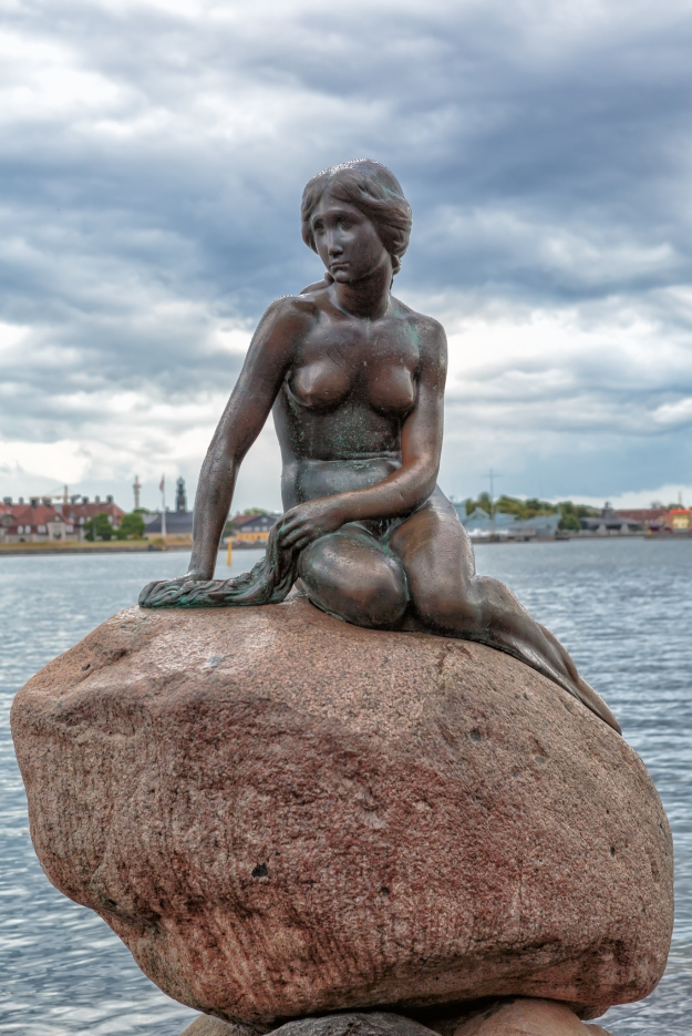 Statue of The Little Mermaid in Copenhagen.