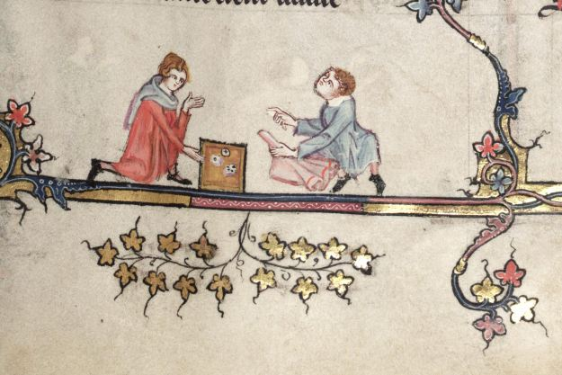 Dice games in Oxford, Bodleian Library MS Bodley 264.