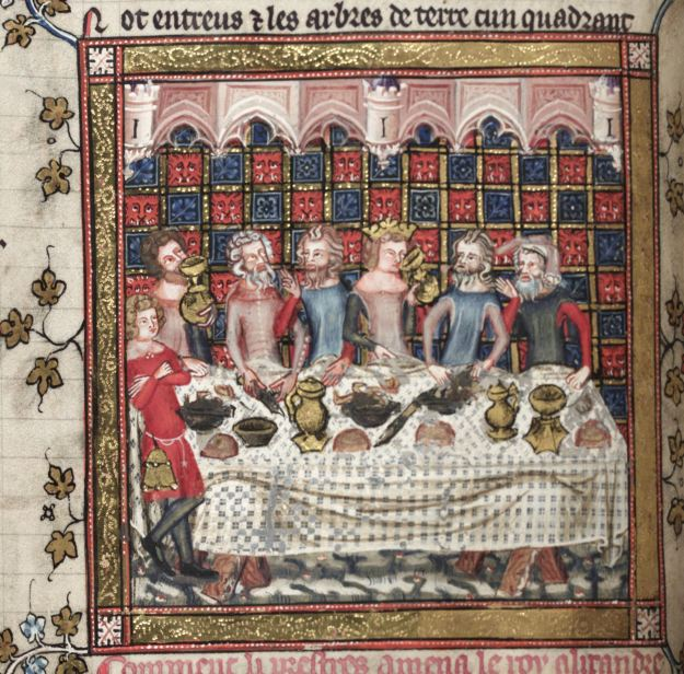 Feasting in Oxford, Bodleian Library MS Bodley 264.