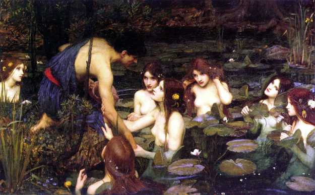 Hylas and the Nymphs, John William Waterhouse.