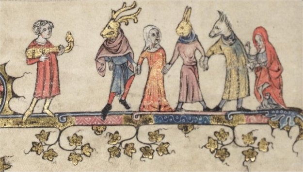 Mummers from Oxford, Bodleian Library MS Bodley 264.