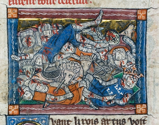Brother against brother: the Destruction of Arthur's Realm. British Library MS Additional 10294.