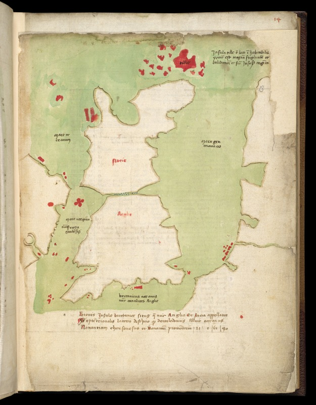 Britain in British Library Harley 3686 (f. 13).