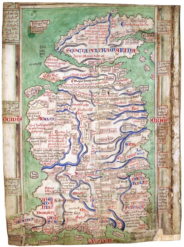 Matthew Paris's map of Britain. British Library