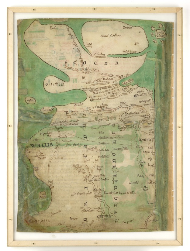 Matthew Paris's Map of Britain in British Library Royal 14 C vii (f. 5v)