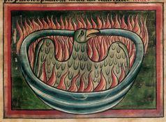 Phoenix in British Library MS Harley 4751, f. 45.
