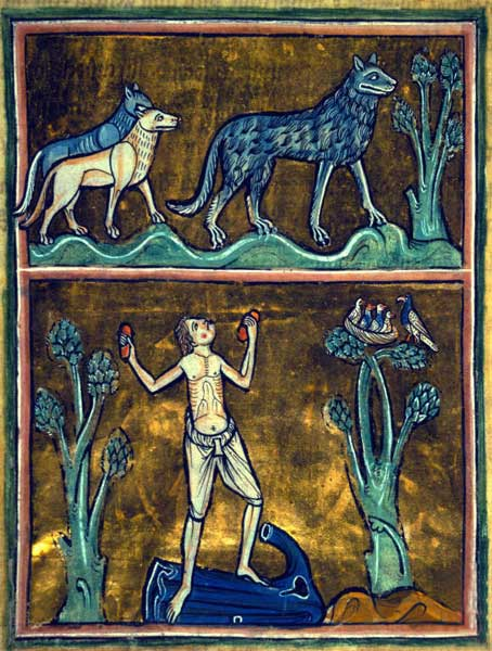 wolf British Library, Royal MS 12 F. xiii, Folio 29r