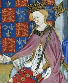 Margaret of Anjou in British Library Royal 15 E VI, f. 2v