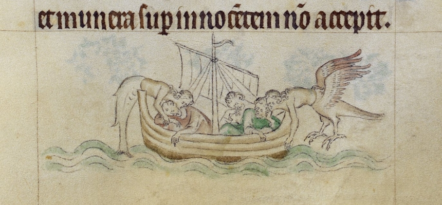 Queen Mary Psalter Royal 2 B VII , 97, sirens