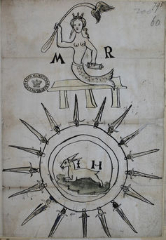 Mary Queen of Scots as a mermaid, 1567 (Kew, The National Archives)